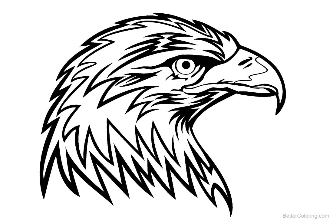 Eagle Coloring Pages Head printable for free
