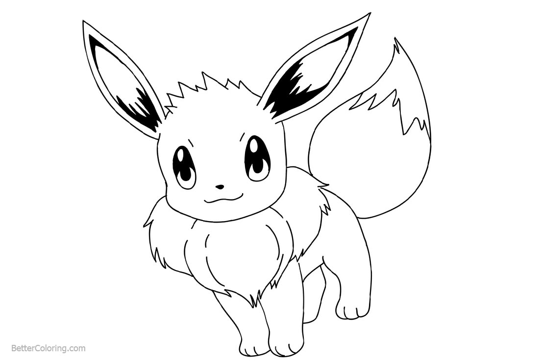 Eevee Coloring Pages Easy Drawing printable for free