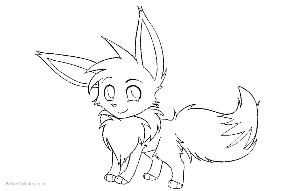 Eevee Coloring Pages Fan Art By Staticclaw Free