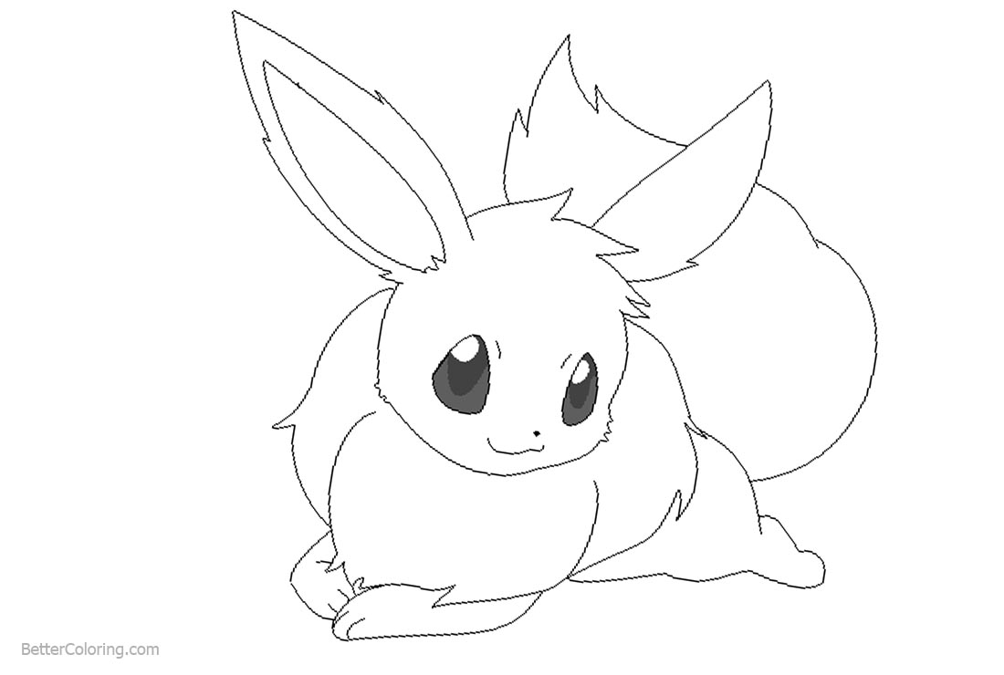 Eevee Coloring Pages Fan Fiction By Michy123 Free