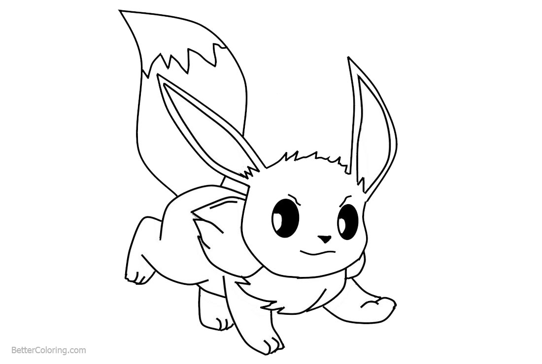 Eevee Coloring Pages Fanart - Free Printable Coloring Pages
