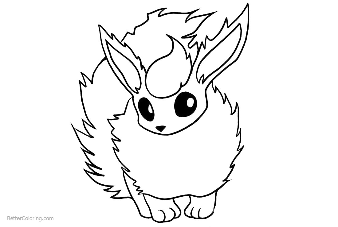 Eevee Coloring Pages Simple Drawing printable for free