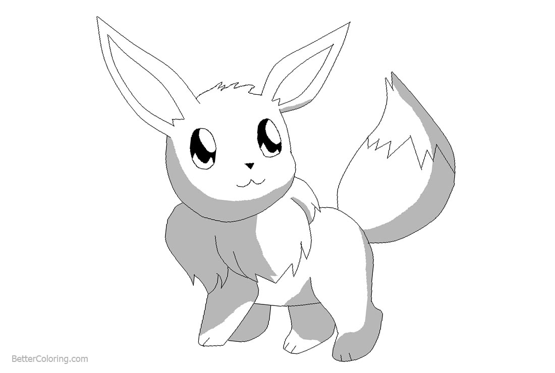 Eevee Coloring Pages by Creepypastafangal666 Free Printable