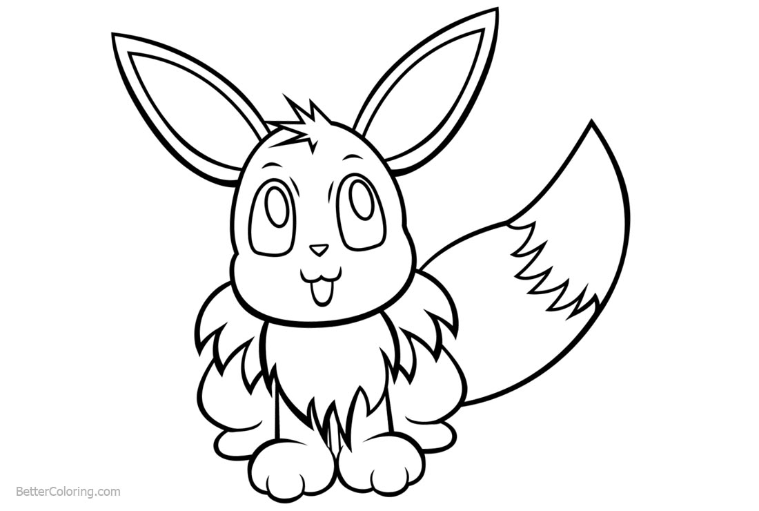 Eevee coloring pages by memimouse free printable for Eevee coloring pages to print
