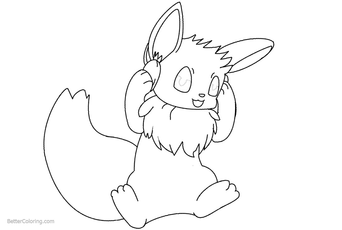 Eevee Coloring Pages by monkeyfan250 Free Printable Coloring Pages