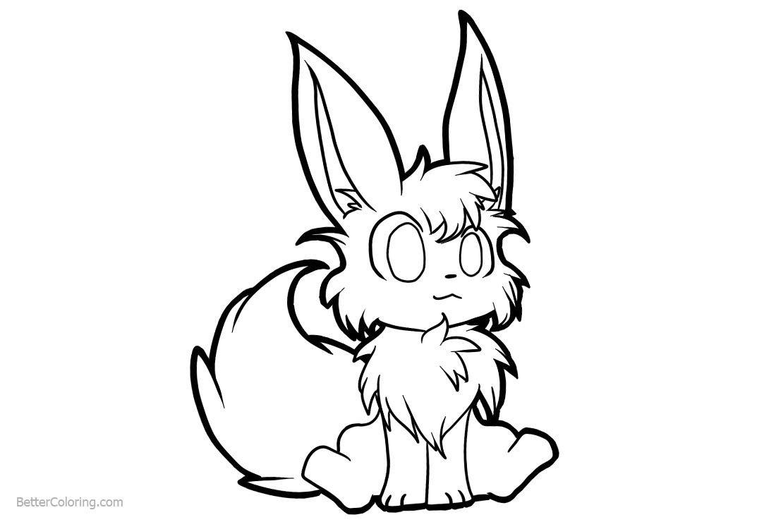download this coloring page - Eevee Coloring Pages