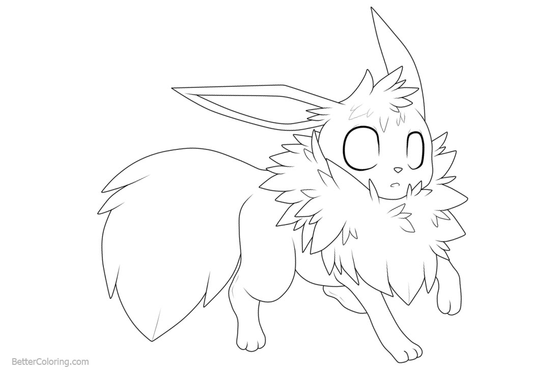 Eevee Coloring Pages by turquoisewolfstar7 printable for free