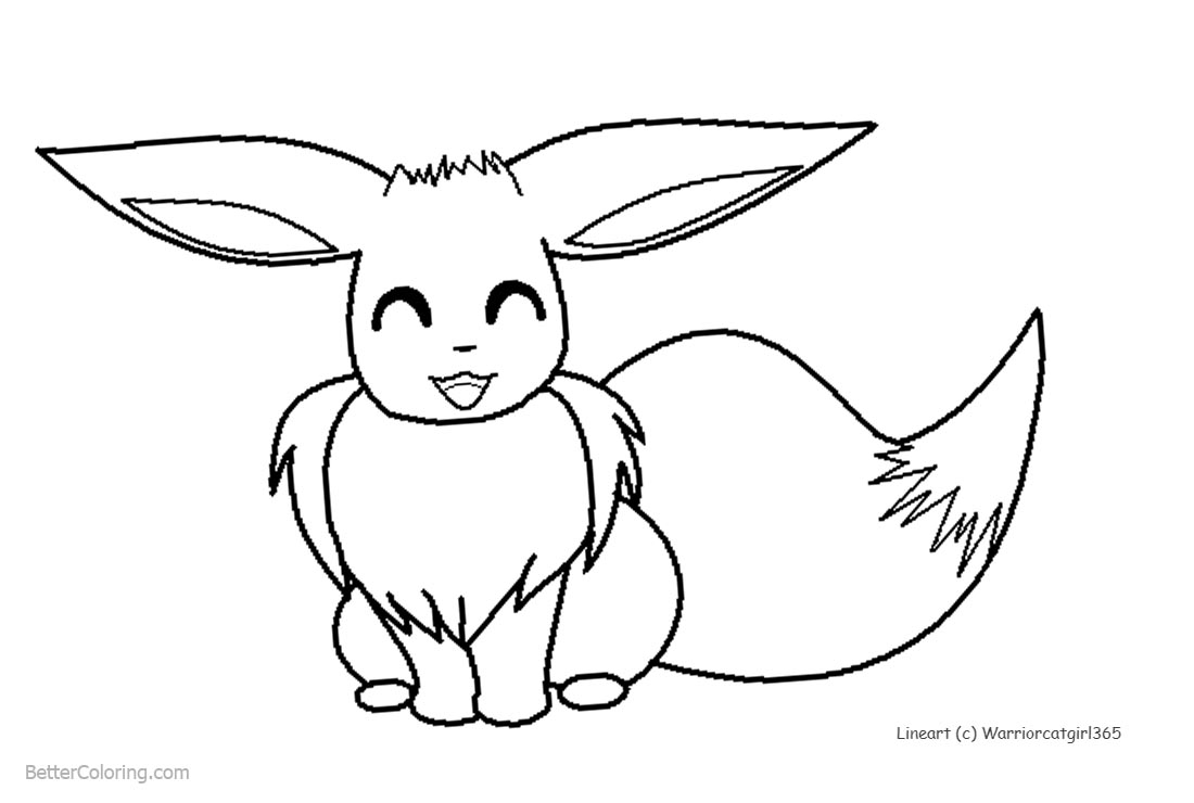 Eevee Coloring Pages by warriorcatgirl365 printable for free
