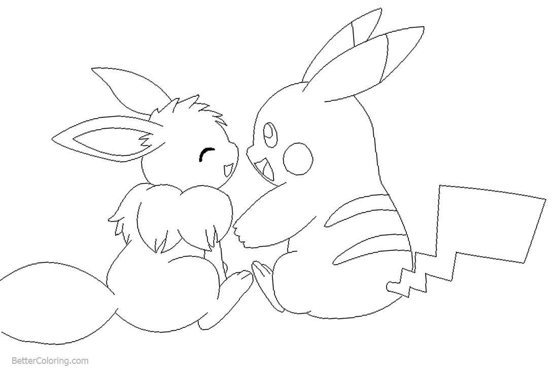 Eevee And Mudkip Pages Coloring Pages