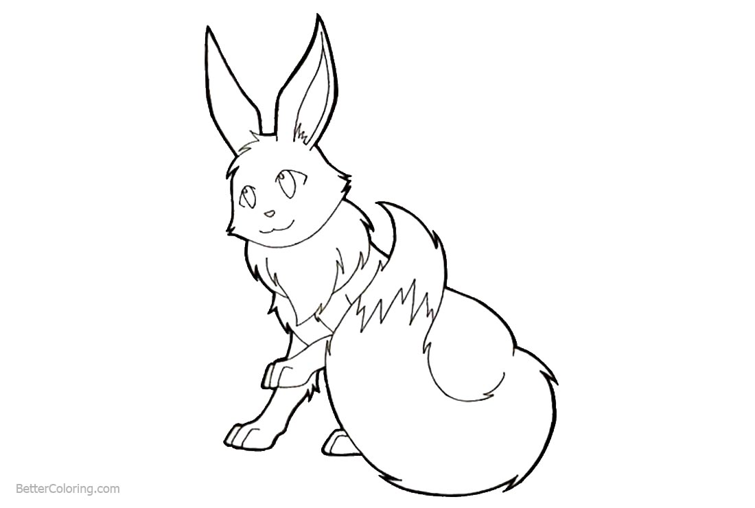Eevee from Pokemon Coloring Pages printable for free