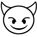 Emojis Coloring Pages Devil