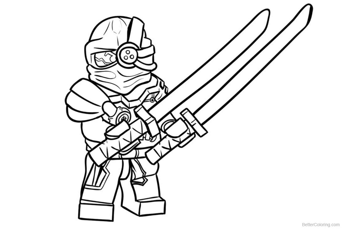 Evil Green Lego Ninjago Coloring Pages printable for free
