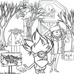 Evil Minion Coloring Pages Halloween