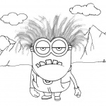 Evil Minion Coloring Pages Outdoor