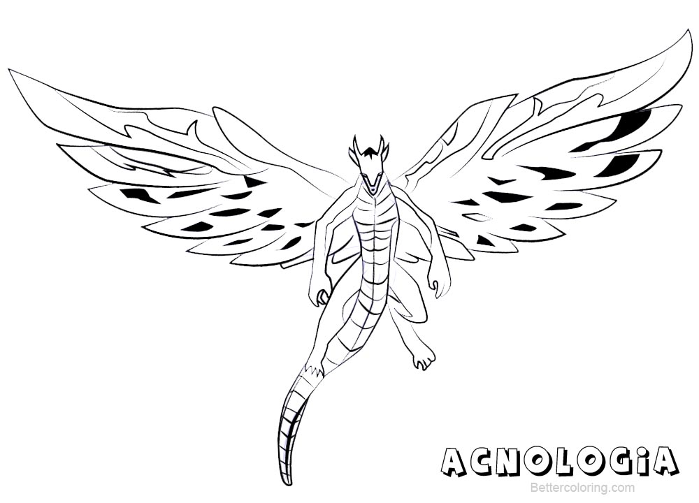 Free Fairy Tail Coloring Pages Acnologia printable