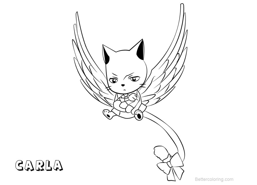 Fairy Tail Coloring Pages Carla Free Printable Coloring Pages