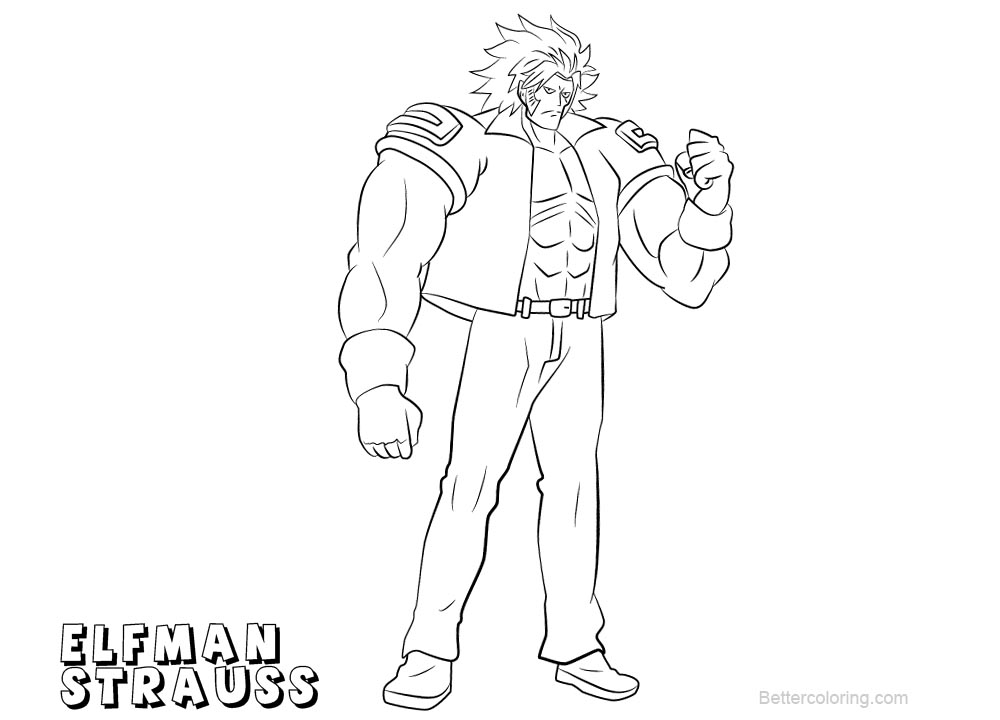 fairy tail coloring pages for adults | Fairy Tail Coloring Pages Elfman Strauss - Free Printable ...
