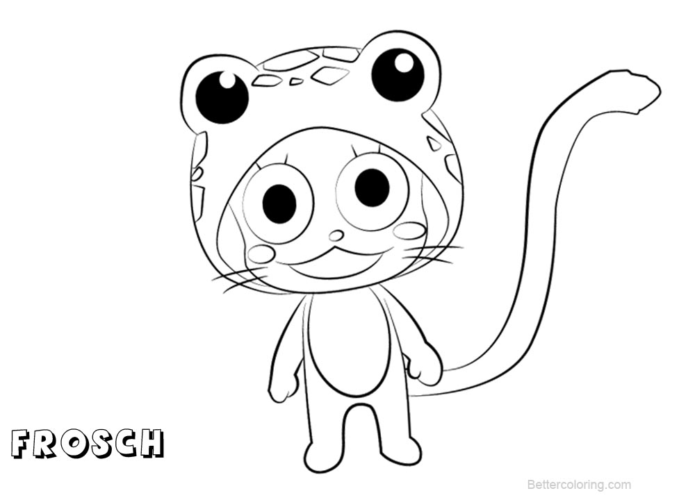Free Fairy Tail Coloring Pages Frosch printable