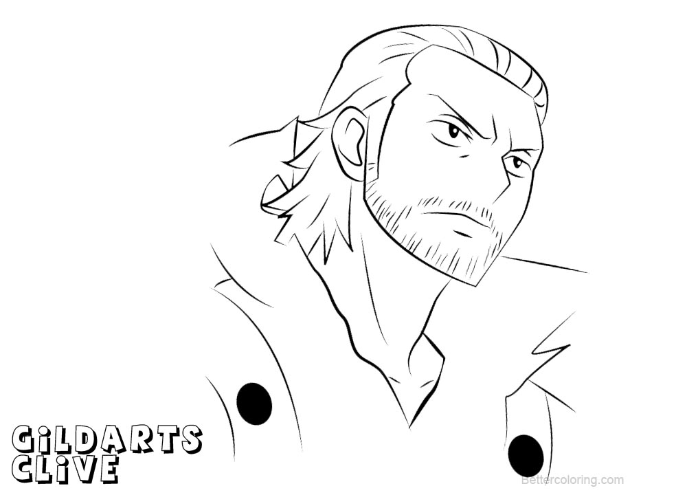 Free Fairy Tail Coloring Pages Gildarts Clive printable
