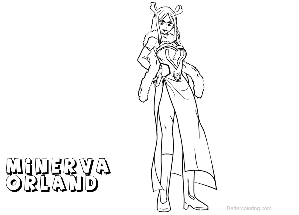 Free Fairy Tail Coloring Pages Minerva Orland printable