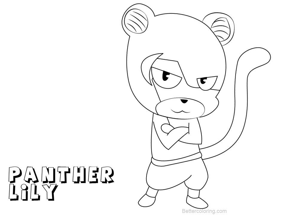 Free Fairy Tail Coloring Pages Panther Lily printable