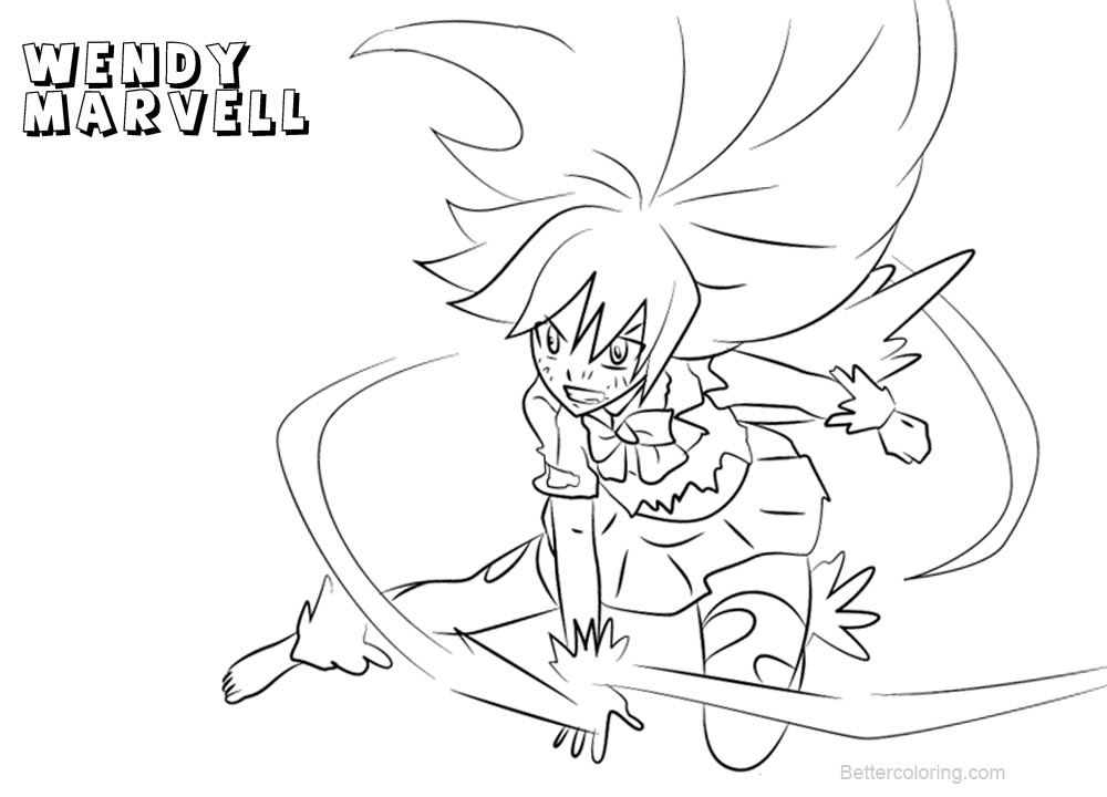 Free Fairy Tail Coloring Pages Wendy Marvell in Dragon Force printable