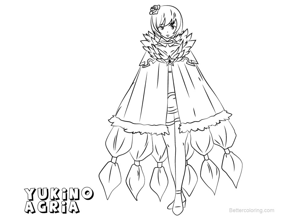 fairy tail coloring pages for adults | Fairy Tail Coloring Pages Yukino Agria - Free Printable ...