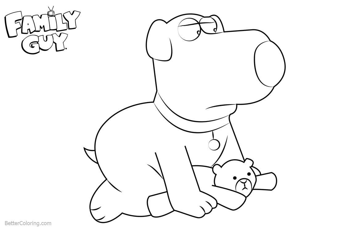 Family Guy Brian Griffin Coloring Pages printable for free