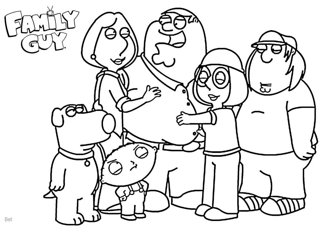 Family Guy Coloring Pages Family Members - Free Printable Coloring Pages