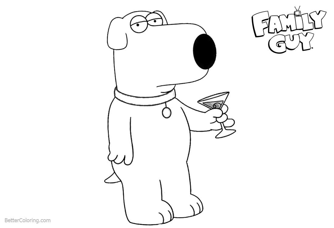 Family Guy Coloring Pages Have A Drink printable for free