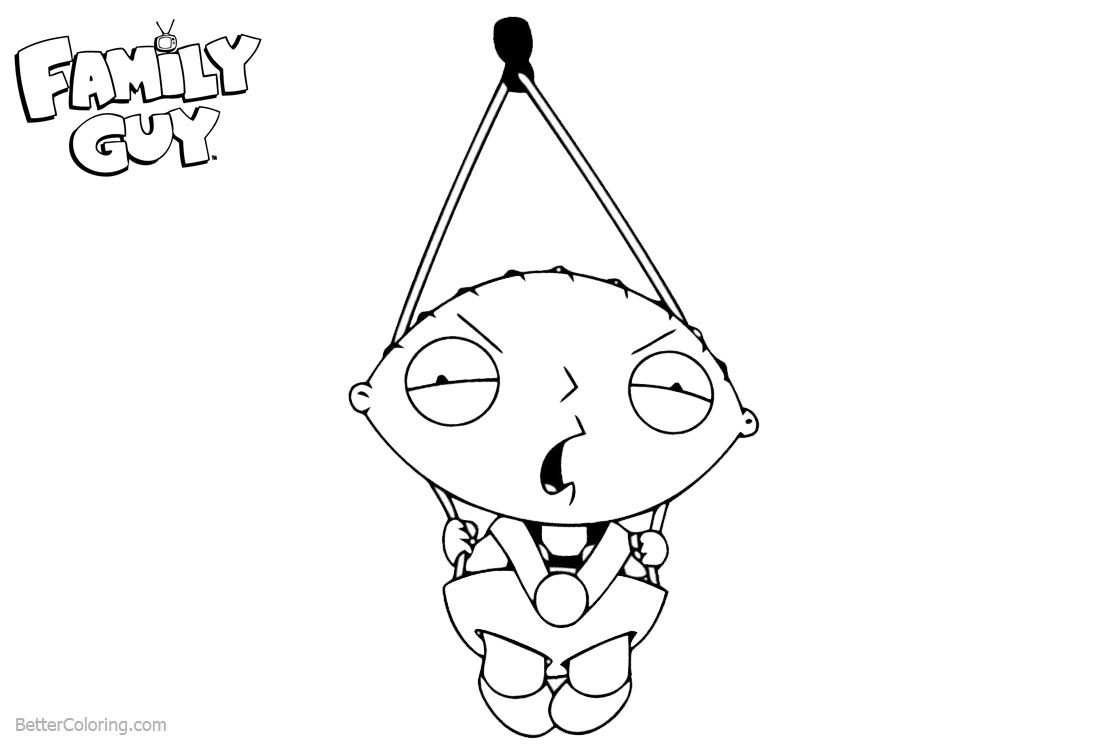 Family Guy Coloring Pages Sad Stewie printable for free