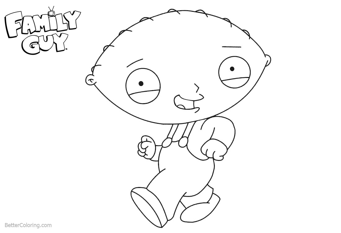 coloring pages family guy stewie | Family Guy Coloring Pages Stewie is Dancing - Free ...