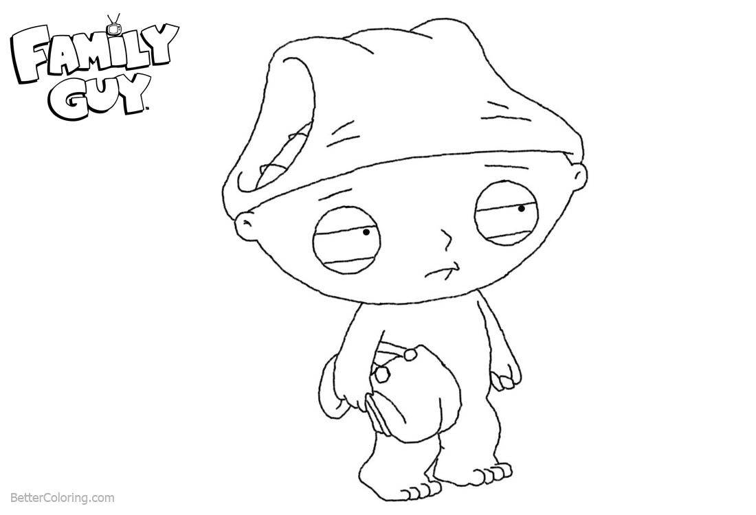 Family Guy Coloring Pages The Boy Stewie printable for free