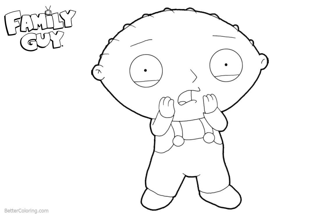 Family Guy Coloring Pages What Happened printable for free