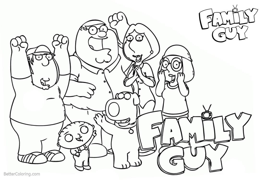 Family Guy Family Coloring Pages printable for free