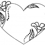 Floral Valentines Day Coloring Pages