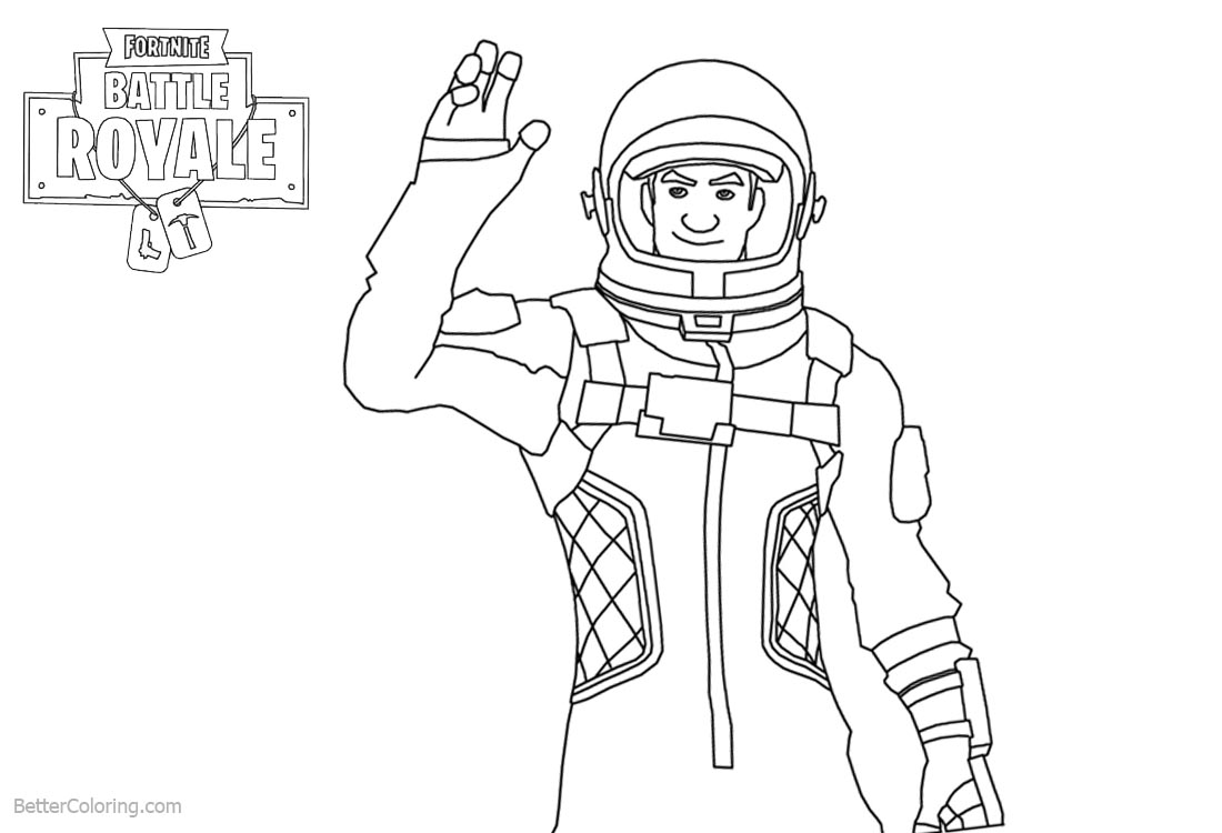 Fortnite Coloring Pages Characters Clipart printable for free