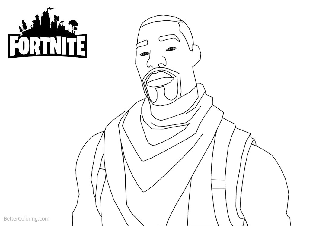 Fortnite Coloring Pages Characters Commando printable for free