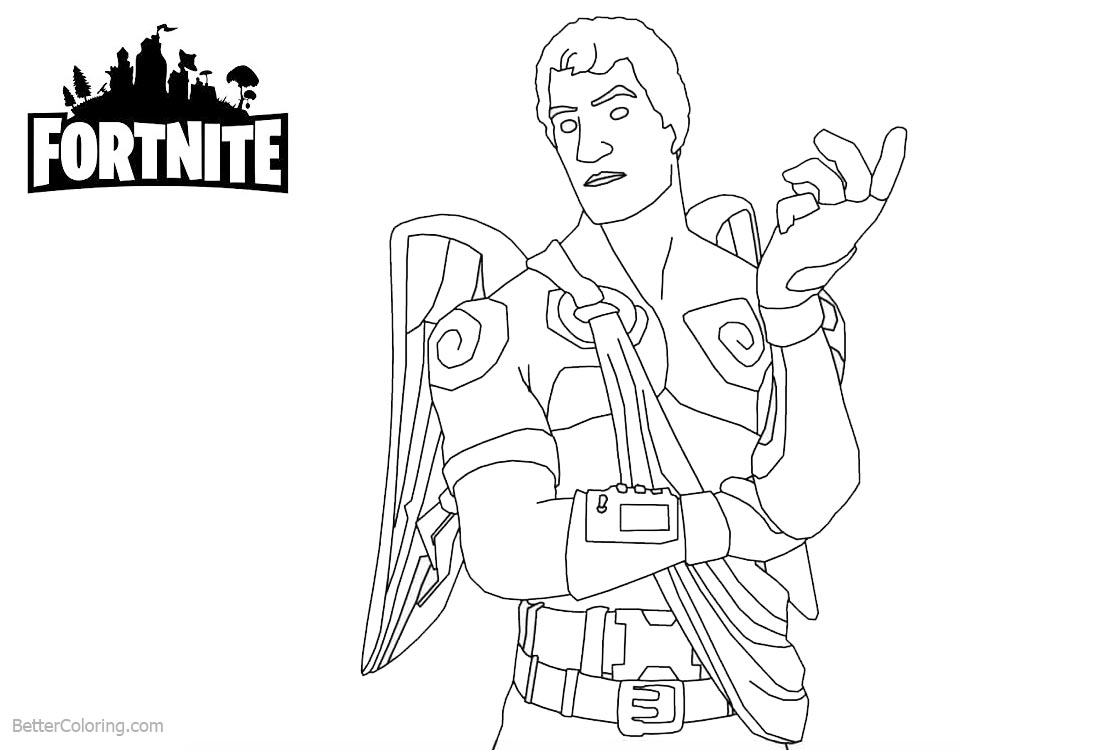 Fortnite Coloring Pages Characters Lineart printable for free