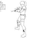 Fortnite Coloring Pages Weapons Rifle Scar Free Printable Coloring
