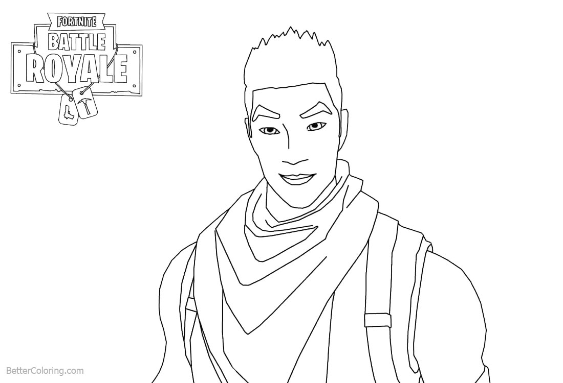 Fortnite Coloring Pages Characters Shock Trooper Free Printable