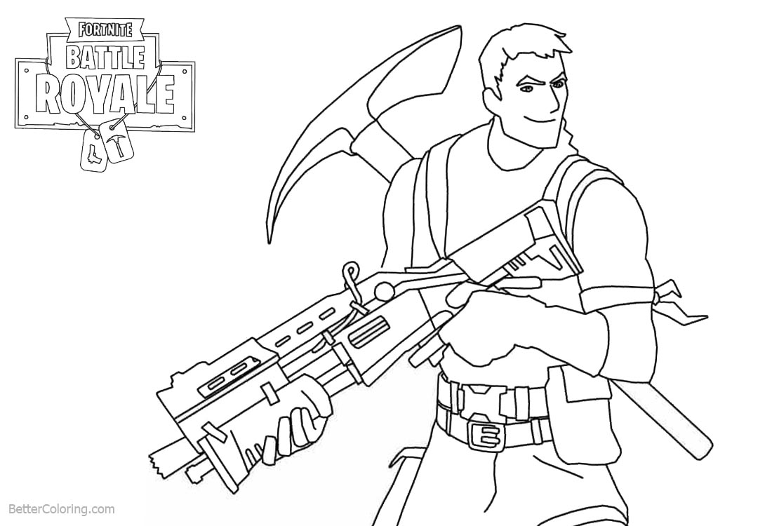 Fortnite Coloring Pages Characters Survivalist Free