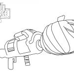 Fortnite Coloring Pages Weapons Rifle Scar Free Printable