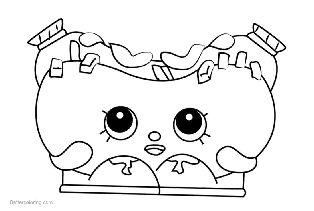 Free Frank Furter Shopkins Coloring Pages Printable and Free printable