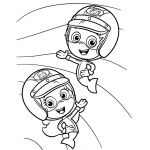 Gil and Molly from Bubble Guppies Coloring Pages