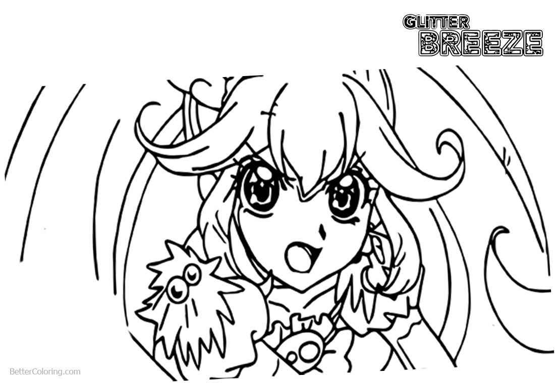 Glitter Force Coloring Pages Black and White printable for free