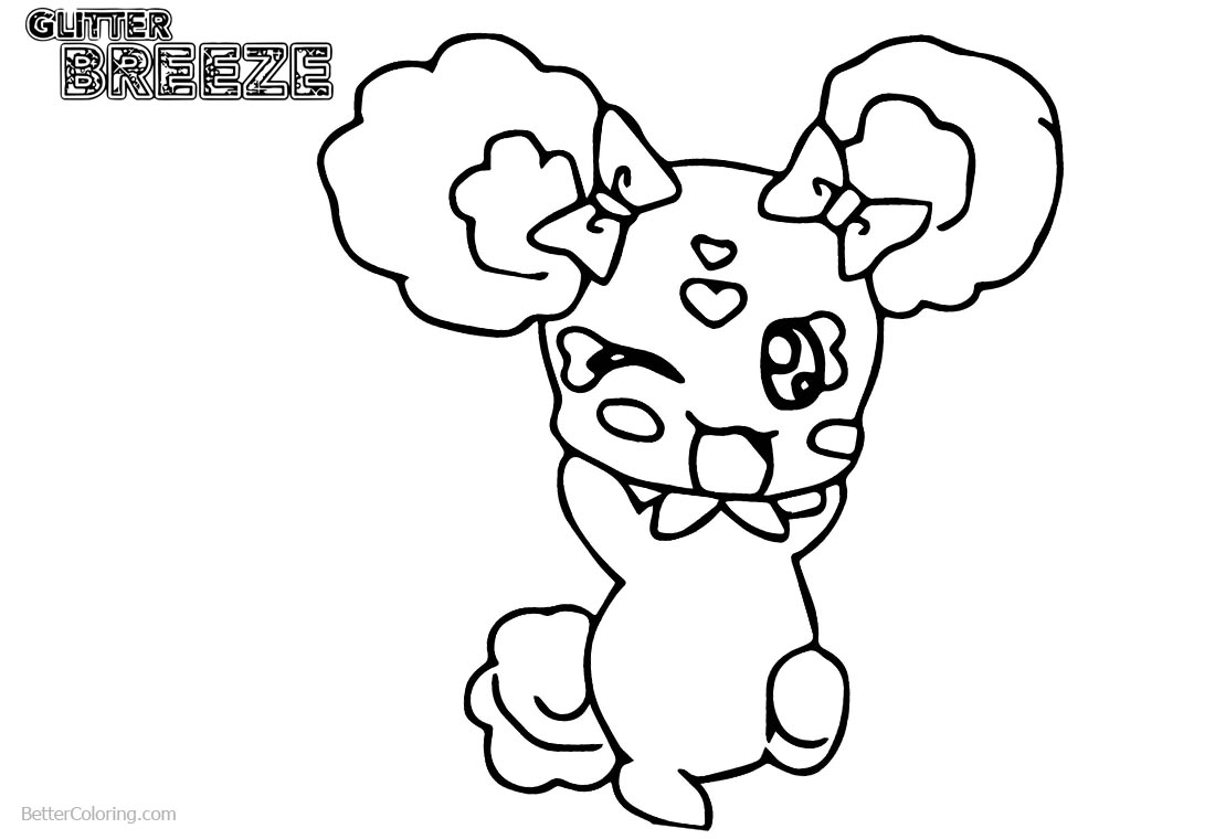 Glitter Force Coloring Pages Pet printable for free