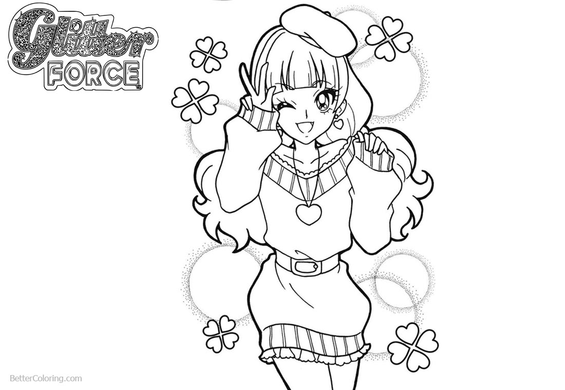Glitter force characters coloring pages ~ Glitter Force Coloring Pages Precure Girl Smile - Free ...