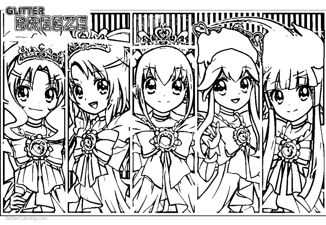 Glitter force characters coloring pages ~ Glitter Force Coloring Pages Precure Precure Girls - Free ...