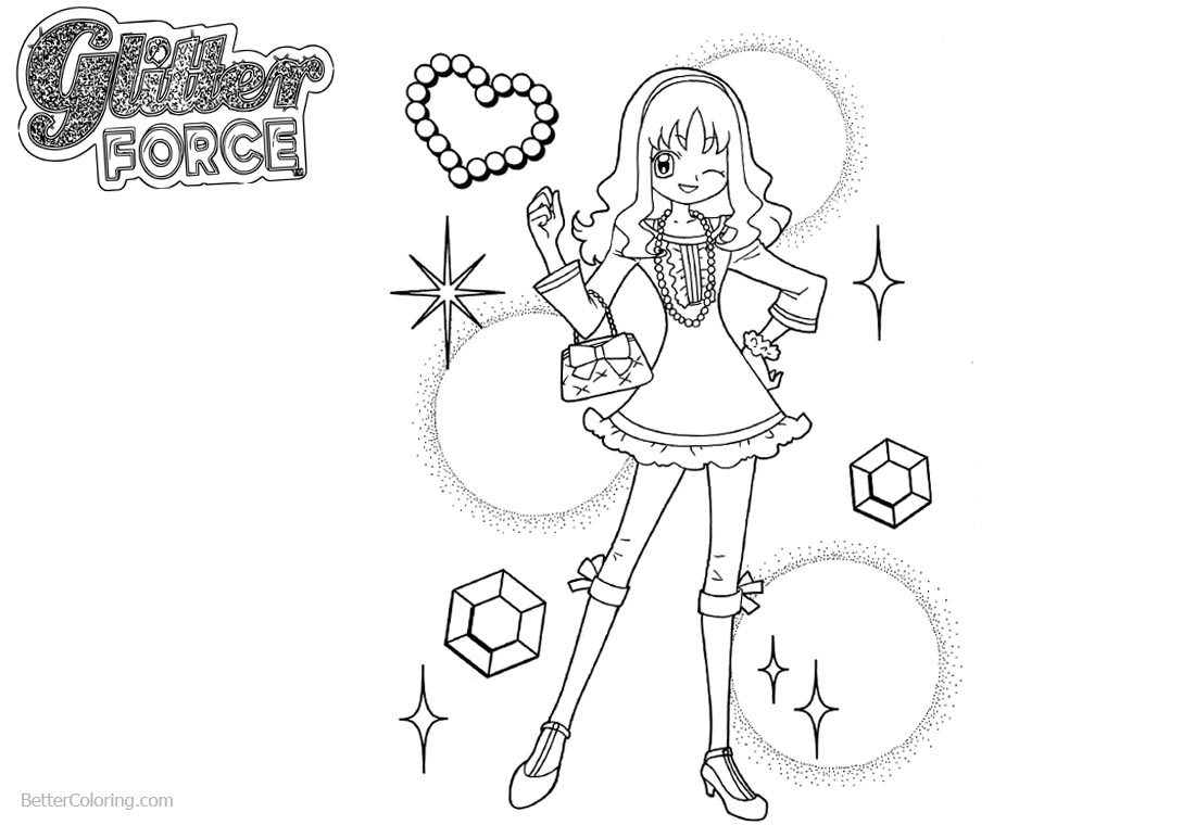 Glitter force characters coloring pages ~ Glitter Force Coloring Pages Precure Smile Force - Free ...